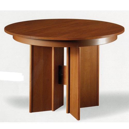 Mesas comedor redonda free mesa de cristal redonda for Mesas de madera para comedor redondas